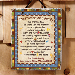 Personalized The Promise of a Family Slate