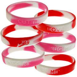 Valentine Rubber Stretch Bracelets