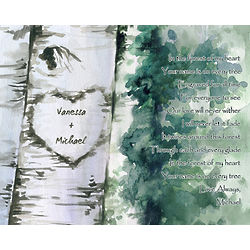 Forest of Love Personalized Fine Art Print