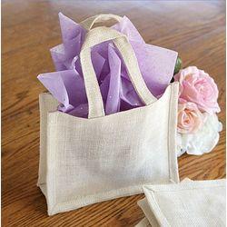 Jute Wedding Gift Bags Pack of 6