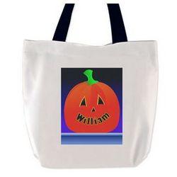 Jack-O-Lantern Personalized Trick or Treat Bag