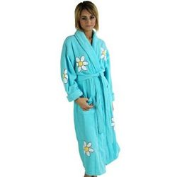 Woman's Long Daisy Bathrobe