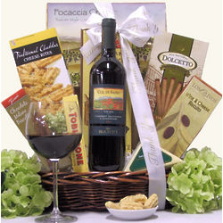 Banfi Col di Sasso Toscana Italian Themed Thank You Gift Basket