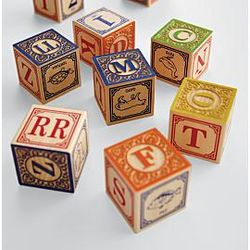 Handcrafted Wooden Spanish Blocks