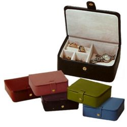 Lizard Print Leather Travel Jewelry Case