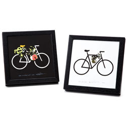 Bicycle with Lock Framed Art Print
