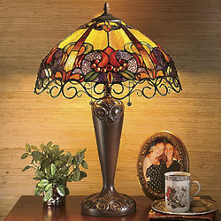 Aurelia Stained Glass Lamp
