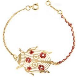 Ladybug Golden Bracelet