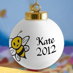 Personalized Honey Bee Christmas Ornament