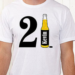 21st Birthday Personalized T-Shirt