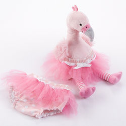 Baby's Fancy Pants Plush Flamingo and Bloomers