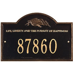 Life & Liberty Address Plaque with US Flag