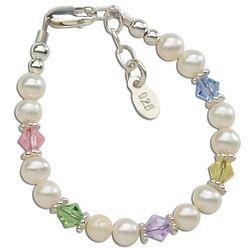 Swarovski Crystal & Pearl Baby Bracelet