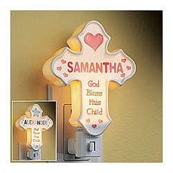 Ceramic Cross Nightlight