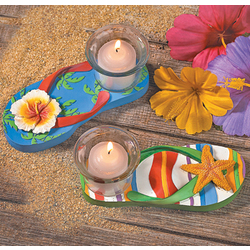 Luau Flip Flop Tea Light Holders