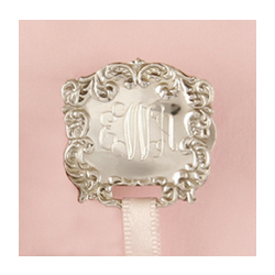 Monogrammed Ornate Baby Pacifier Clip