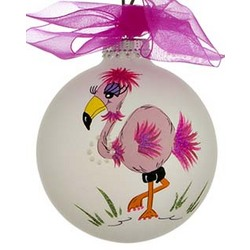 Flamingo Flo Personalized Christmas Ornament