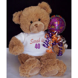 Custom Age Birthday Teddy Bear