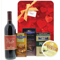 Tempting Treats with Romance Gift Set with Valentine's Gift Wrap