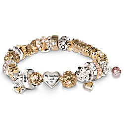 Heartfelt Wishes Swarovski Crystal Daughter Charm Bracelet