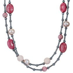 Shades of Pink 36 Inch Necklace