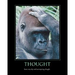 Thought Personalized Print with Gorilla