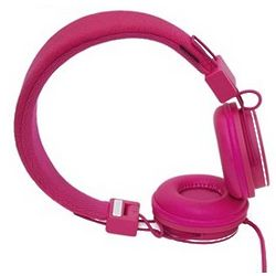 Plattan Over Ear Collapsible Headphones in Pink