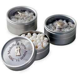 Personalized Wedding Mint Tin with Charm