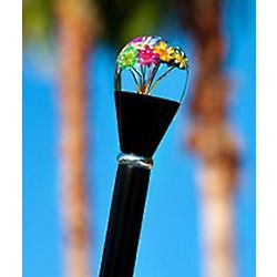 Real Dried Flower Clear Lucite Knob Handle Walking Stick