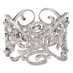 Cubic Zirconia Estate Cuff Bracelet
