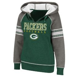 Women's Green Bay Packers Grey Hooded Sweatshirt