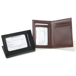 Leather Card Case With Multi Windows
