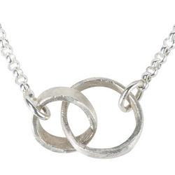 Sterling Silver Connected Rings Pendant