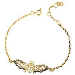 Engraved Gold-Plated Bat Bracelet