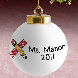 Personalized Teacher's Christmas Ornament