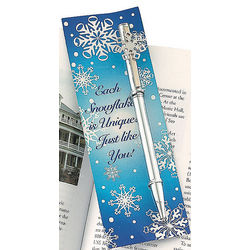 Snowflake Pen and Bookmark Sets