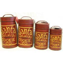 Santa Cookie Canister Set