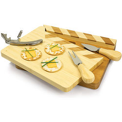 Movie Clapperboard Cheese Board and Tool Set