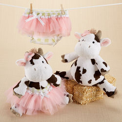 Baby's Daisy Lou Plush Cow and Bloomer