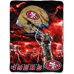 San Francisco 49ers Sky Helmet Raschel Blanket