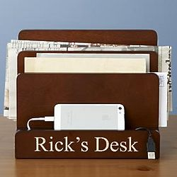 Personalized Magnetic Desk Organizer and Charging Station