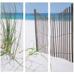 Beach Scene Triptych Wall Art