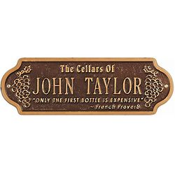Personalized Wine Cellar Family Name Plaque