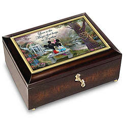 Mickey Mouse and Minnie Mouse Romantic Personalized Music Box