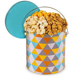 1 Gallon of People's Choice Mix Popcorn in Artisan Tin