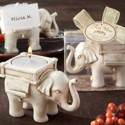 Lucky Elephant Asian Tea Light Favor