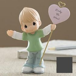 Precious Moments Personalized Boy with Heart Figurine