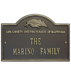 Personalized Life and Liberty House Plaque
