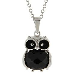 Black Onyx Owl Necklace