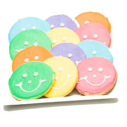 Large Pastel Smiley Easter Cookies